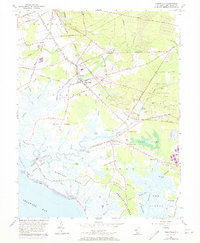 Download a high-resolution, GPS-compatible USGS topo map for Cedarville, NJ (1973 edition)