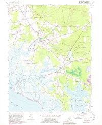 Download a high-resolution, GPS-compatible USGS topo map for Cedarville, NJ (1980 edition)
