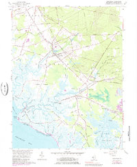 Download a high-resolution, GPS-compatible USGS topo map for Cedarville, NJ (1984 edition)