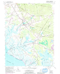 Download a high-resolution, GPS-compatible USGS topo map for Cedarville, NJ (1993 edition)