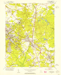 Download a high-resolution, GPS-compatible USGS topo map for Clementon, NJ (1954 edition)