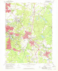 Download a high-resolution, GPS-compatible USGS topo map for Clementon, NJ (1968 edition)