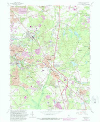 Download a high-resolution, GPS-compatible USGS topo map for Clementon, NJ (1988 edition)