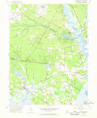 Download a high-resolution, GPS-compatible USGS topo map for Dividing Creek, NJ (1968 edition)