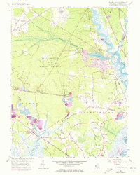 Download a high-resolution, GPS-compatible USGS topo map for Dividing Creek, NJ (1973 edition)