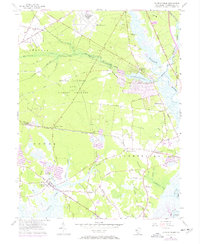 Download a high-resolution, GPS-compatible USGS topo map for Dividing Creek, NJ (1972 edition)
