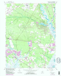 Download a high-resolution, GPS-compatible USGS topo map for Dividing Creek, NJ (1987 edition)