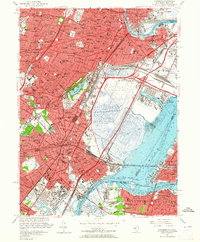 Download a high-resolution, GPS-compatible USGS topo map for Elizabeth, NJ (1964 edition)