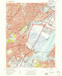 Download a high-resolution, GPS-compatible USGS topo map for Elizabeth, NJ (1958 edition)