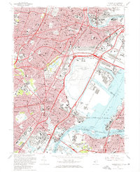 Download a high-resolution, GPS-compatible USGS topo map for Elizabeth, NJ (1969 edition)