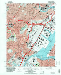Download a high-resolution, GPS-compatible USGS topo map for Elizabeth, NJ (1998 edition)