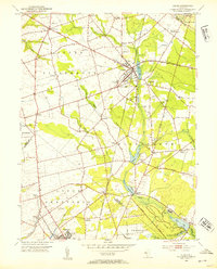 Download a high-resolution, GPS-compatible USGS topo map for Elmer, NJ (1954 edition)