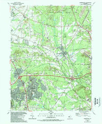 Download a high-resolution, GPS-compatible USGS topo map for Farmingdale, NJ (1989 edition)