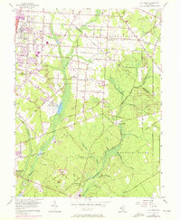Download a high-resolution, GPS-compatible USGS topo map for Five Points, NJ (1972 edition)