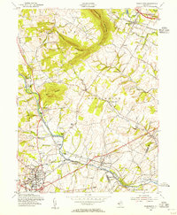 Download a high-resolution, GPS-compatible USGS topo map for Flemington, NJ (1956 edition)