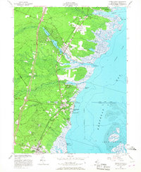 Download a high-resolution, GPS-compatible USGS topo map for Forked River, NJ (1967 edition)