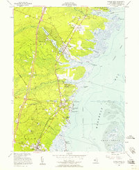 Download a high-resolution, GPS-compatible USGS topo map for Forked River, NJ (1958 edition)