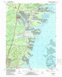 Download a high-resolution, GPS-compatible USGS topo map for Forked River, NJ (1989 edition)