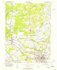 Download a high-resolution, GPS-compatible USGS topo map for Freehold, NJ (1955 edition)