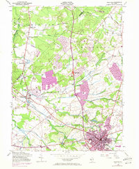 Download a high-resolution, GPS-compatible USGS topo map for Freehold, NJ (1972 edition)