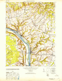Download a high-resolution, GPS-compatible USGS topo map for Frenchtown, NJ (1953 edition)