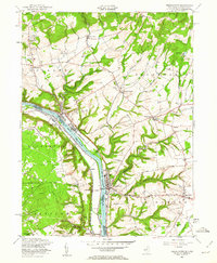 Download a high-resolution, GPS-compatible USGS topo map for Frenchtown, NJ (1962 edition)
