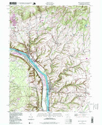 Download a high-resolution, GPS-compatible USGS topo map for Frenchtown, NJ (1999 edition)