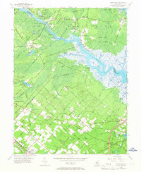 Download a high-resolution, GPS-compatible USGS topo map for Green Bank, NJ (1967 edition)