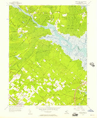 Download a high-resolution, GPS-compatible USGS topo map for Green Bank, NJ (1957 edition)