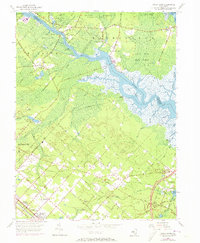 Download a high-resolution, GPS-compatible USGS topo map for Green Bank, NJ (1973 edition)