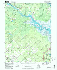 Download a high-resolution, GPS-compatible USGS topo map for Green Bank, NJ (1998 edition)