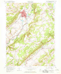 Download a high-resolution, GPS-compatible USGS topo map for Hackettstown, NJ (1968 edition)
