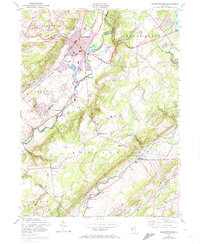 Download a high-resolution, GPS-compatible USGS topo map for Hackettstown, NJ (1974 edition)