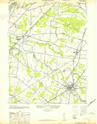 Download a high-resolution, GPS-compatible USGS topo map for Hightstown, NJ (1942 edition)