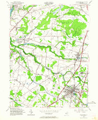 Download a high-resolution, GPS-compatible USGS topo map for Hightstown, NJ (1964 edition)