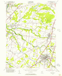 Download a high-resolution, GPS-compatible USGS topo map for Hightstown, NJ (1956 edition)