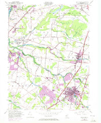Download a high-resolution, GPS-compatible USGS topo map for Hightstown, NJ (1972 edition)