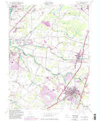 Download a high-resolution, GPS-compatible USGS topo map for Hightstown, NJ (1982 edition)