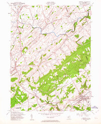 Download a high-resolution, GPS-compatible USGS topo map for Hopewell, NJ (1963 edition)