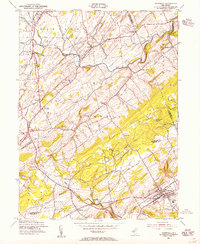 Download a high-resolution, GPS-compatible USGS topo map for Hopewell, NJ (1955 edition)