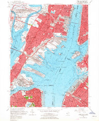 Download a high-resolution, GPS-compatible USGS topo map for Jersey City, NJ (1964 edition)