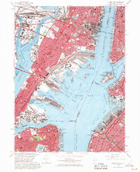 Download a high-resolution, GPS-compatible USGS topo map for Jersey City, NJ (1969 edition)