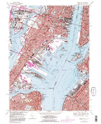 Download a high-resolution, GPS-compatible USGS topo map for Jersey City, NJ (1982 edition)