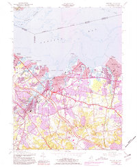 Download a high-resolution, GPS-compatible USGS topo map for Keyport, NJ (1981 edition)
