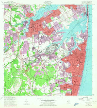 Download a high-resolution, GPS-compatible USGS topo map for Long Branch, NJ (1972 edition)