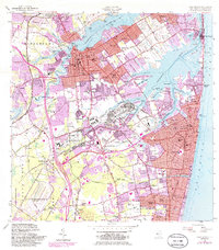 Download a high-resolution, GPS-compatible USGS topo map for Long Branch, NJ (1986 edition)