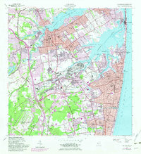 Download a high-resolution, GPS-compatible USGS topo map for Long Branch, NJ (1982 edition)