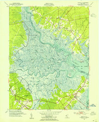 Download a high-resolution, GPS-compatible USGS topo map for Marmora, NJ (1955 edition)