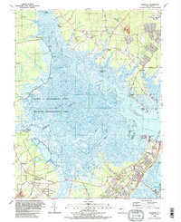 Download a high-resolution, GPS-compatible USGS topo map for Marmora, NJ (1989 edition)