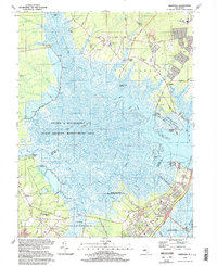 Download a high-resolution, GPS-compatible USGS topo map for Marmora, NJ (1998 edition)